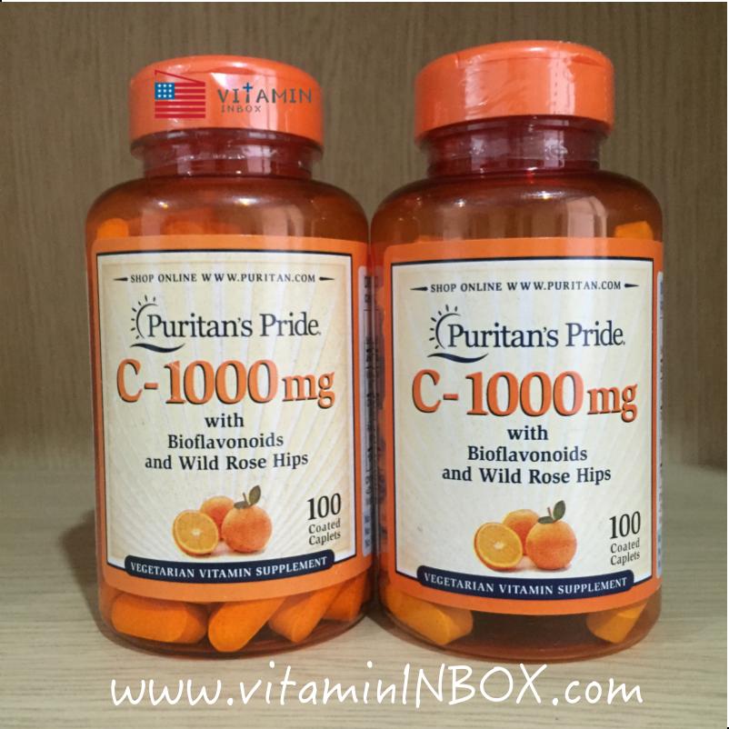 Puritan's Pride Vitamin C-1000 mg with Bioflavonoids & Rose Hips 100 Caplets