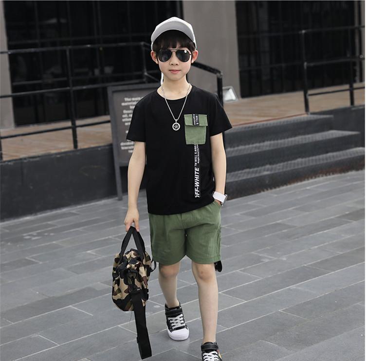 เสื้อ+กางเกง สีดำ แพ็ค 5 ชุด ไซส์ 130-140-150-160-170 (เลือกไซส์ได้)
