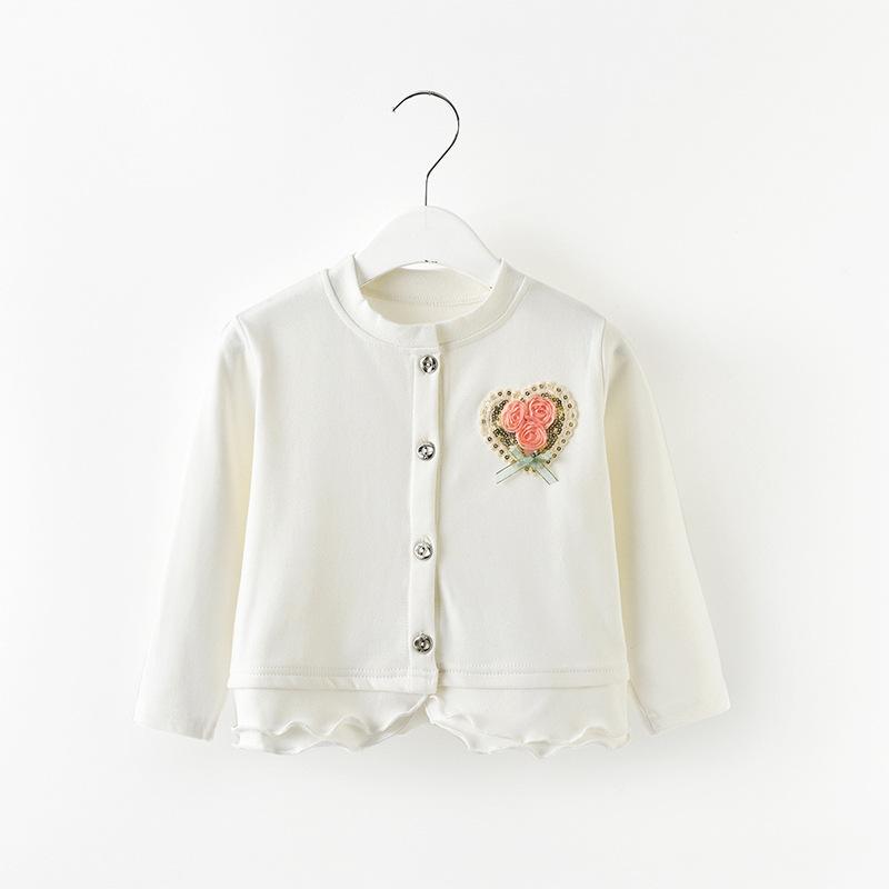 เสื้อคลุมแขนยาวสีขาว [size 2y-3y-4y-5y-6y]