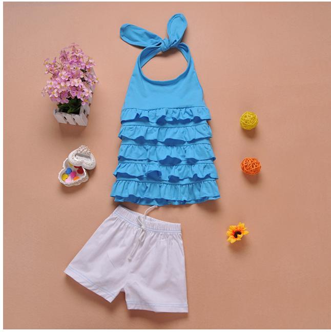 เสื้อ+กางเกง สีฟ้า แพ็ค 5ชุด ไซส์ 90-100-110-120-130