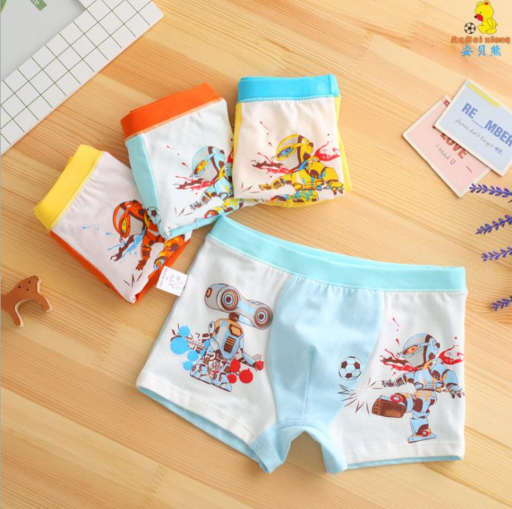 กางเกงในเด็ก คละสี (1 ถุง มี 3 ตัว แพ็ค 8 รวม 24ตัว) ไซส์ L อายุ 4-5 ปี