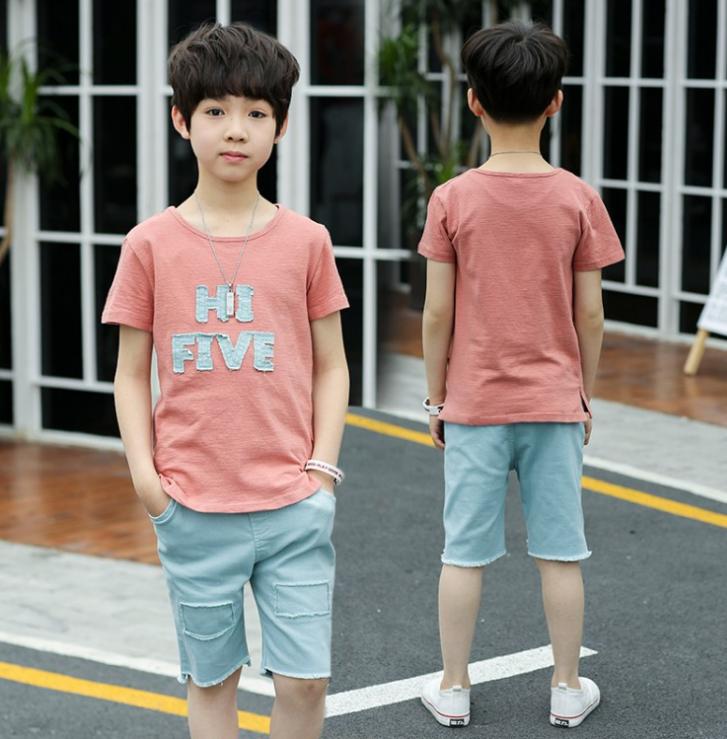 เสื้อ+กางเกง สีช็อคโกแลค แพ็ค 5 ชุด ไซส์ 120-130-140-150-160 (เลือกไซส์ได้)