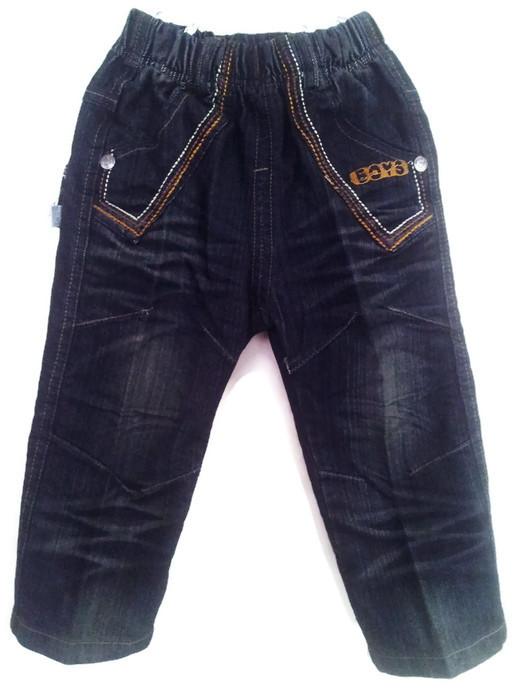 JD1210 กางเกงยีนส์เด็กชาย ดีไซส์ลายปักเท่ห์ทั้งด้านหน้า-หลัง เอวยางยืด Size 4-6 ขวบ ขายปลีกในราคาส่งให้เลยจ้า