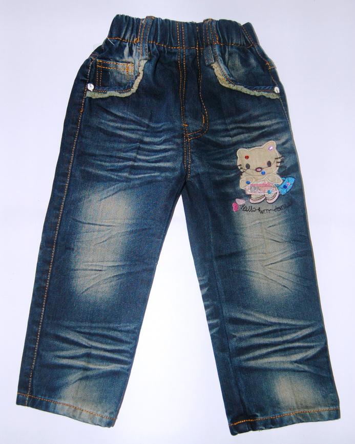 CNJ023 กางเกงยีนส์ เด็กหญิง ขายาว ผ้าฟอกอัดยับ ผ้านิ่มใส่สบาย แต่งลายเก๋ ๆ ปักเลื่อม กระเป๋าหลังสองข้าง Size 15/18