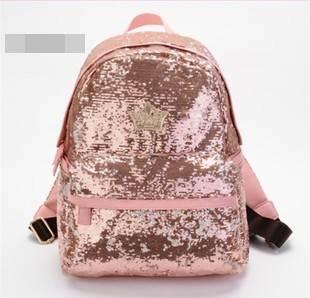 J.estina กระเป๋าแฟชั่นเลื่อมสีชมพู