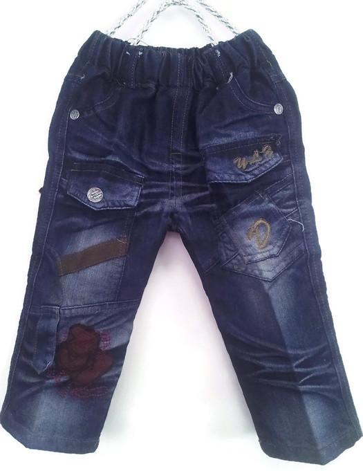 JD1041 กางเกงยีนส์เด็กชาย ดีไซส์ลายปักเท่ห์ทั้งด้านหน้า-หลัง เอวยางยืด Size 4-6 ขวบ ขายปลีกในราคาส่งให้เลยจ้า