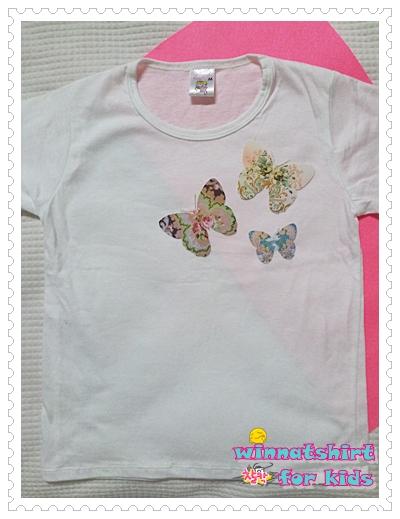 เสื้อยืดเด็ก ลายผีเสื้อ แบบที่ 3 Size M