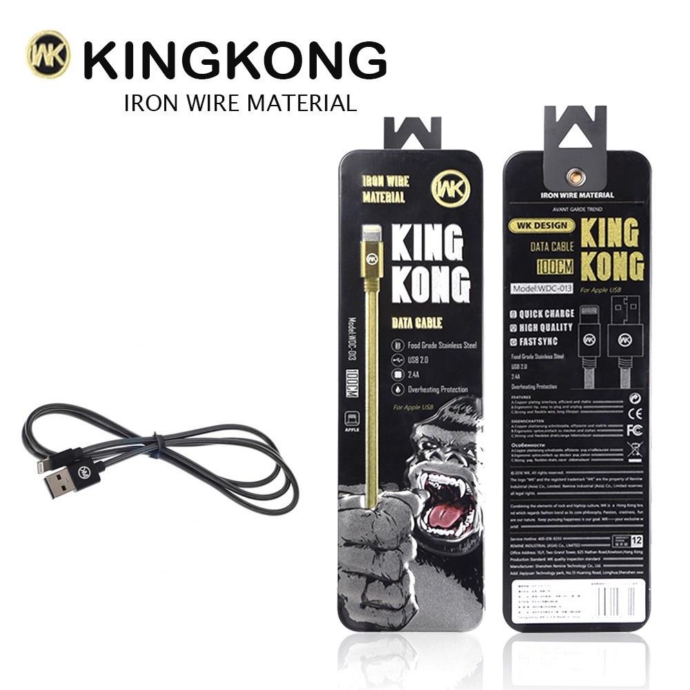 สายชาร์จ WK KINGKONG WDC-013 for iPhone 5/6 สีดำ