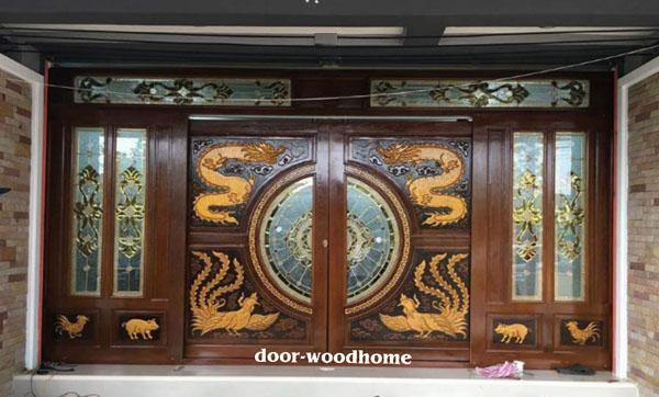 ประตูไม้สัก,ประตูไม้สักกระจกนิรภัย, ประตูไม้สักบานคู่, ประตูไม้สักบานเดี่ยว,ประตูไม้สักบานเลื่อน