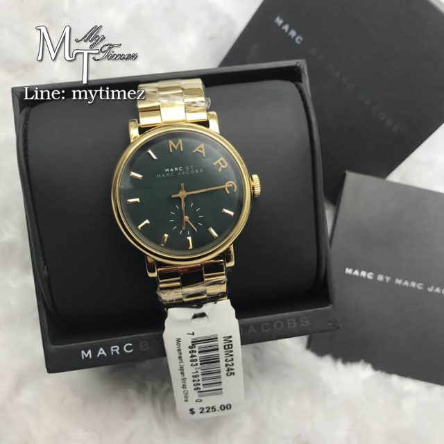 Marc By Marc Jacobs Baker Green Dial Gold-tone Ladies Watch MBM3245