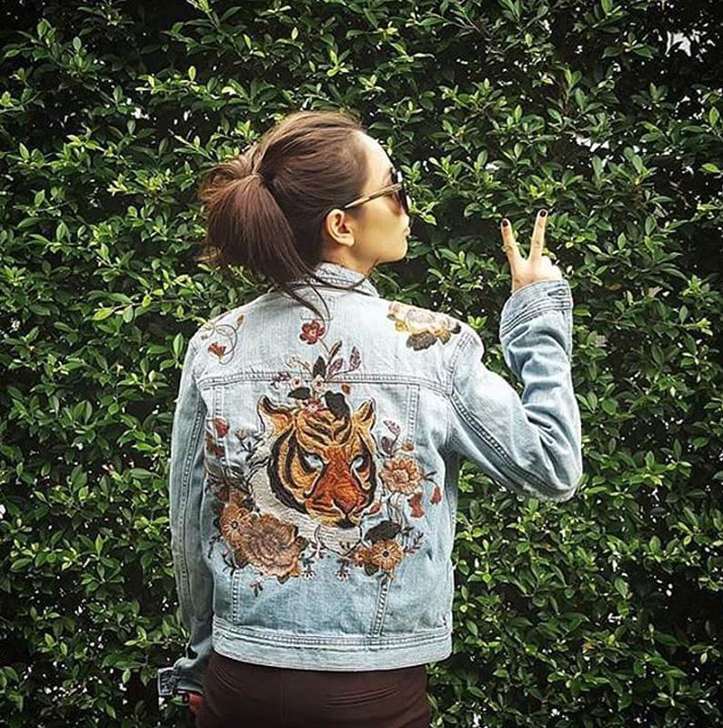 แจ็คเก็ต AEO Tiger with Embroidery Denim Jacket