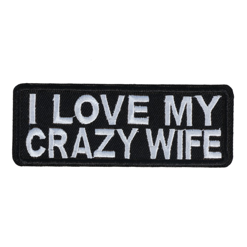 M0083 I love my crazy wife 10x3.8cm