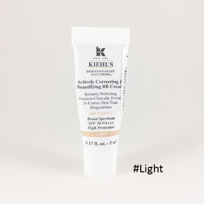 (ขนาดทดลอง): Kiehl's Actively Correcting & Beautifying BB Cream With Vitamin C SPF 50 PA+++ 5ml #Light