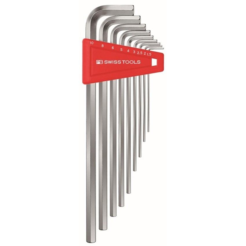 หกเหลี่ยมชุด PB Swiss Tools หัวตัด ยาว รุ่น PB 211 H-10 (9 ตัว/ชุด)