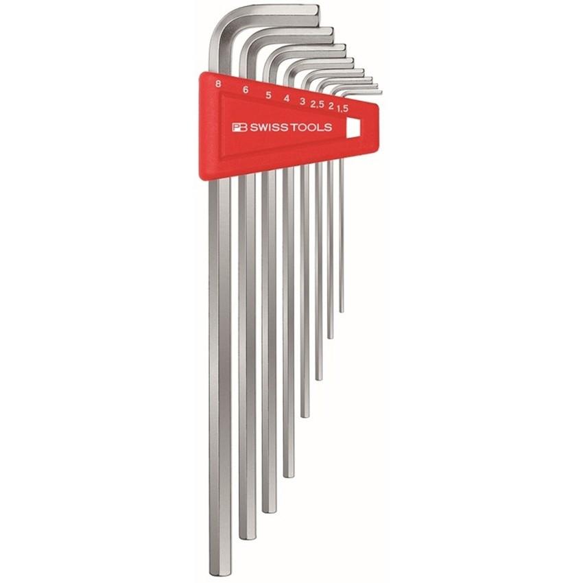 หกเหลี่ยมชุด PB Swiss Tools หัวตัด ยาว รุ่น PB 211 H-8 (8 ตัว/ชุด)