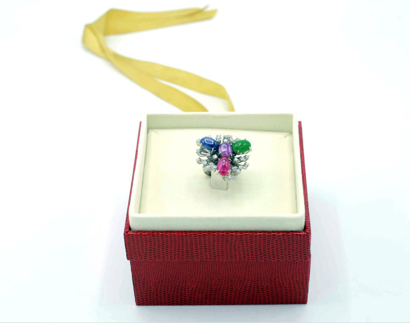 C05004 แหวนดอกไม้ เทอดมณี