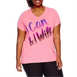 ( 0x หน้าอก 42-44 นิ้ว ) เสื้อยืด สีชมพู คอวีสกรีนลายผ้าใส่สบาย น่ารักคะ