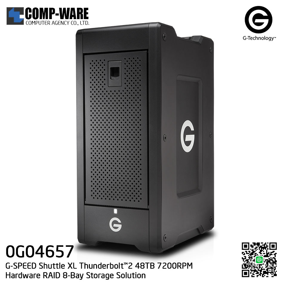 G-Technology G-SPEED Shuttle XL Thunderbolt™2 48TB 7200RPM Hardware RAID 8-Bay Storage Solution - 0G04657