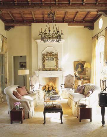 การแต่งห้องนั่งเล่น Romantic Style