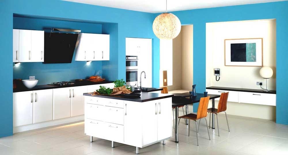 ไม่ควรใช้สีฟ้าในการตกแต่งห้องอาหาร
