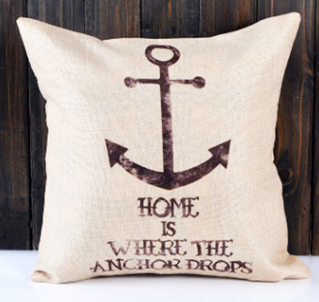 หมอนอิง Home is where the Anchor Drops