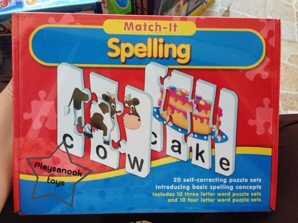 PS-6034 match-it-spelling จับคู่คำศัพท์ภาษาอังกฤษ