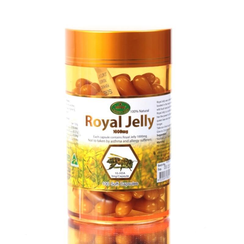 เนเจอร์คิงส์ ขนาดจริง 100 เม็ด ครองตลาดนมผึ้งมาเป็นเวลา สามปีเต็ม นมผึ้งตัวดัง ขายดีอันดับหนึ่งติดกันสามปีซ้อน NATURE KING PRIMIUM ROYAL JELLY 2% 1000 mg จากประเทศออสเตรเลีย เนเจอร์คิงส์ รอยัลเจลลี่ นมผึ้งแท้ 100% ผิวเด้ง เนียนใส เด็กลง ชลอวัย นมผึ้ง เนเจ