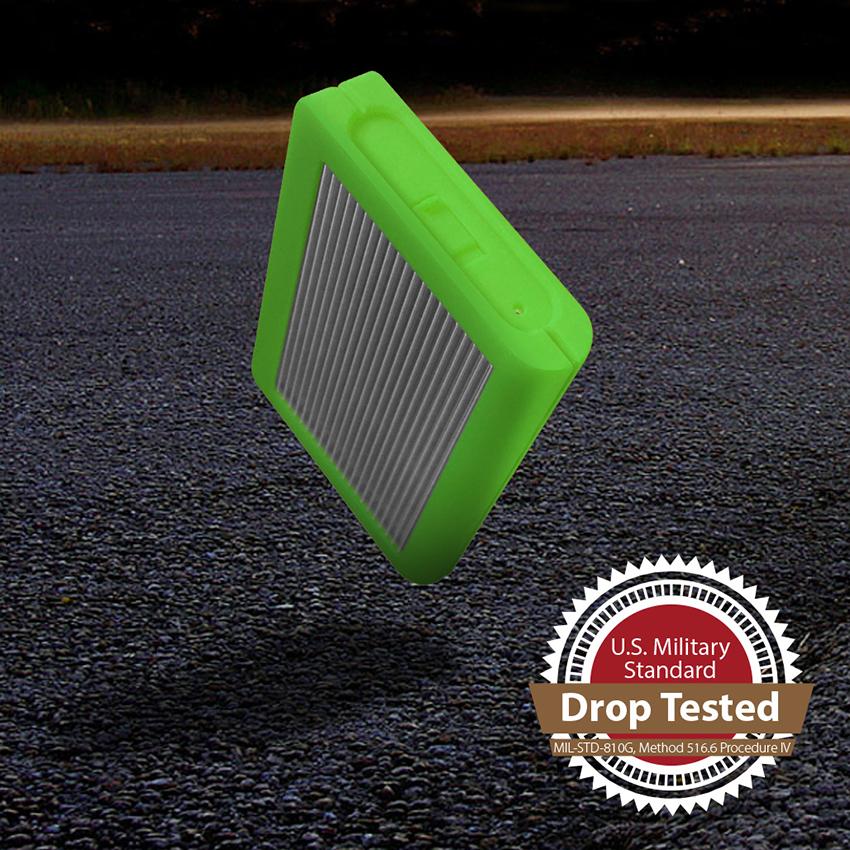 Tuff USB-C Portable External Hard Drive - 2TB Green