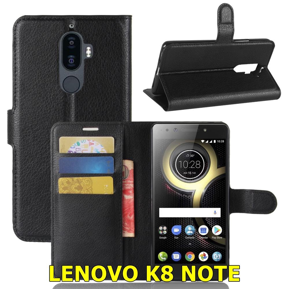 ฝาพับหนัง Leather Wallet Case (Lenovo K8 NOTE)