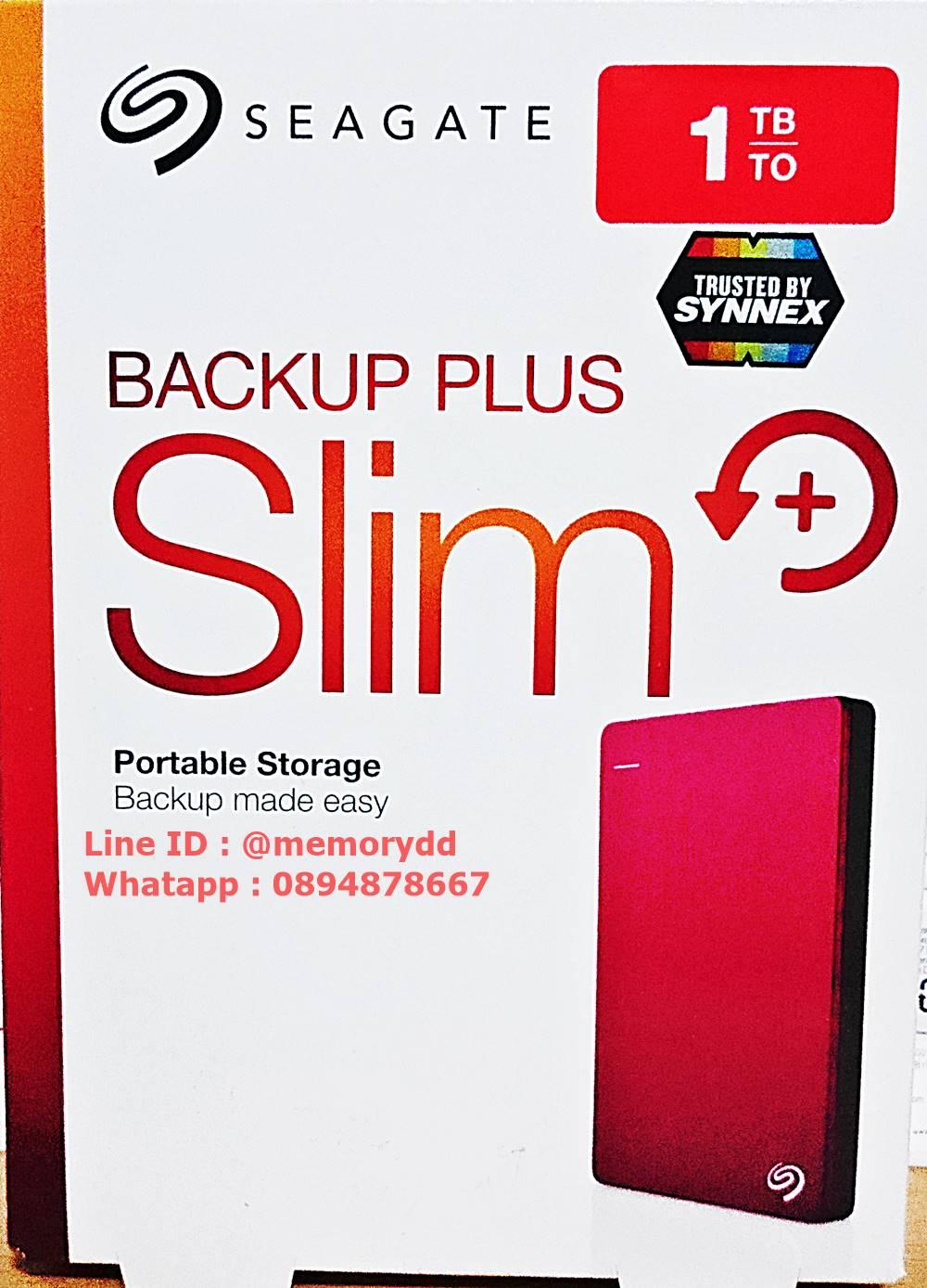 "Seagate Backup Plus Slim 1TB 2.5"" (Red) USB3.0 (STDR1000303)"