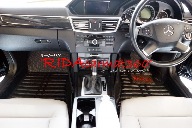 พรมปูพื้นรถยนต์ BENZ E-CLASS W212 (2010-2016) สีดำ BY RIDA CAMAT 360