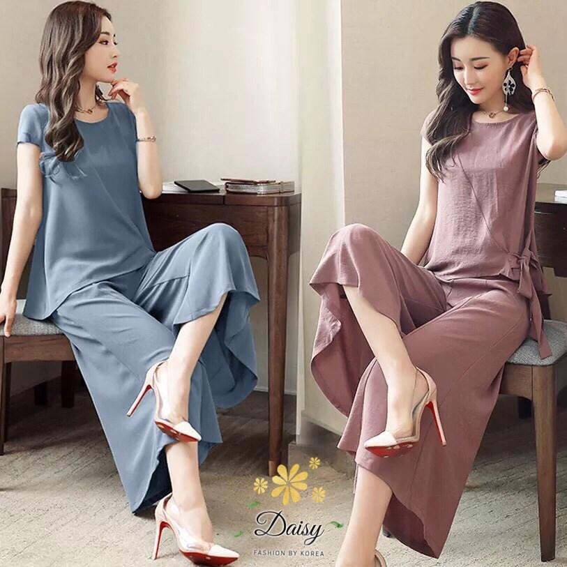 ชุดเซท เสื้อ+กางเกง เซท 2 ชิ้น ผ้าจอเจียร์ญี่ปุ่น