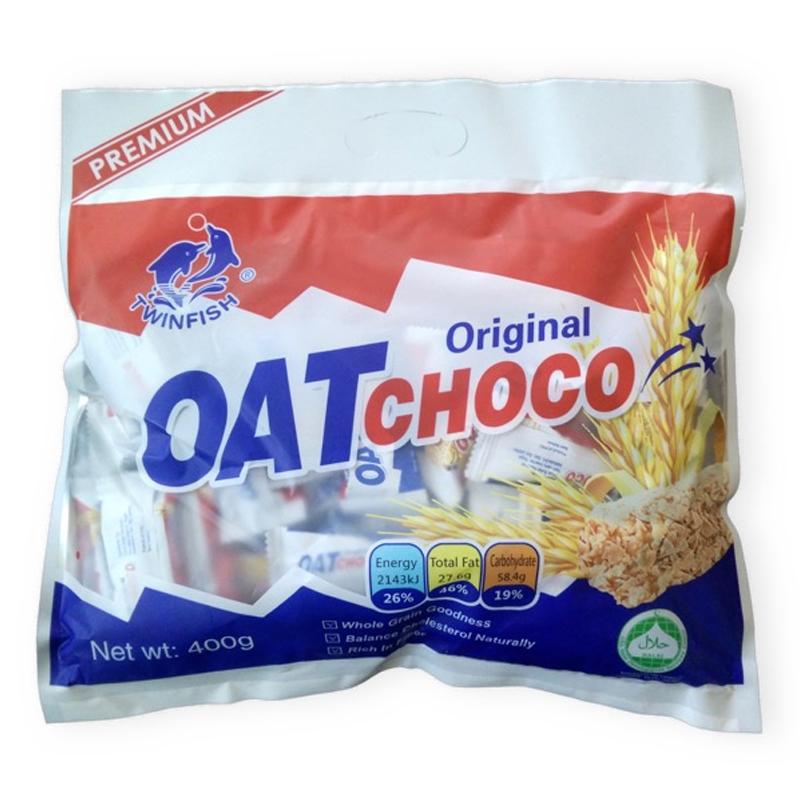 OAT Choco ขนมข้าวโอ๊ตอัดแท่ง โอ๊ตช็อคโก้รสนม ทานรองท้องก็ได้