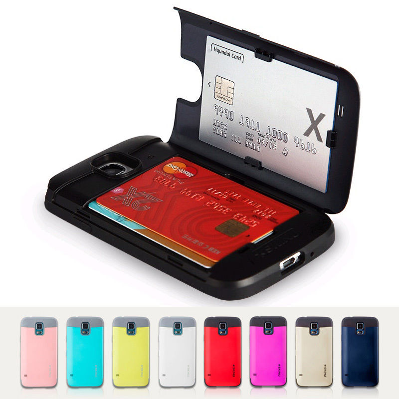 Skinu : Eureka Bumper Case Card Storage for Samsung Galaxy S5, SV, G900