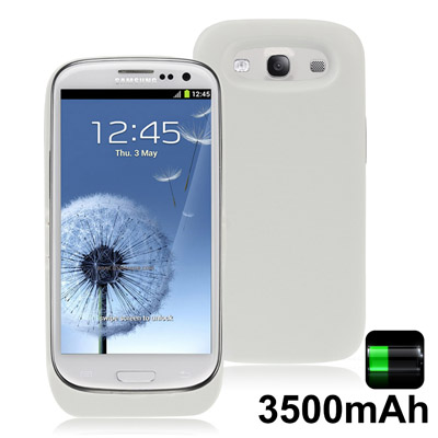 3500mAh Portable Super Thin Power Bank Samsung Galaxy S 3 III (White)