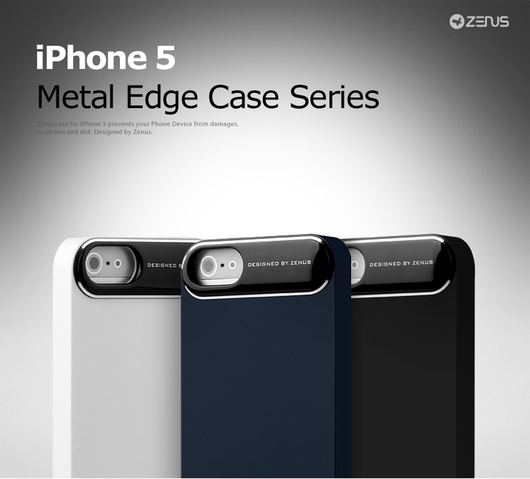Zenus : Metal Edge Bar Case Full Shock Protect Special Design Cover Case for iPhone 5