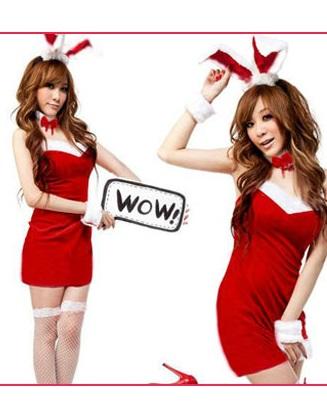 รหัส bunny girl1 สีแดง ชุดคอสเพลย์เซ็กซี่บันนี่