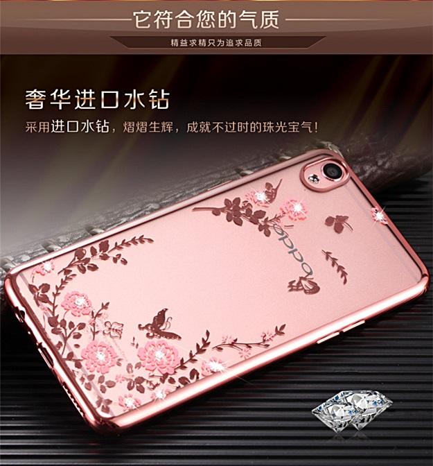 (436-092)เคสมือถือ Case OPPO Mirror 5 lite เคสนิ่มใสขอบชุบแววลายดอกไม้น่ารักๆ