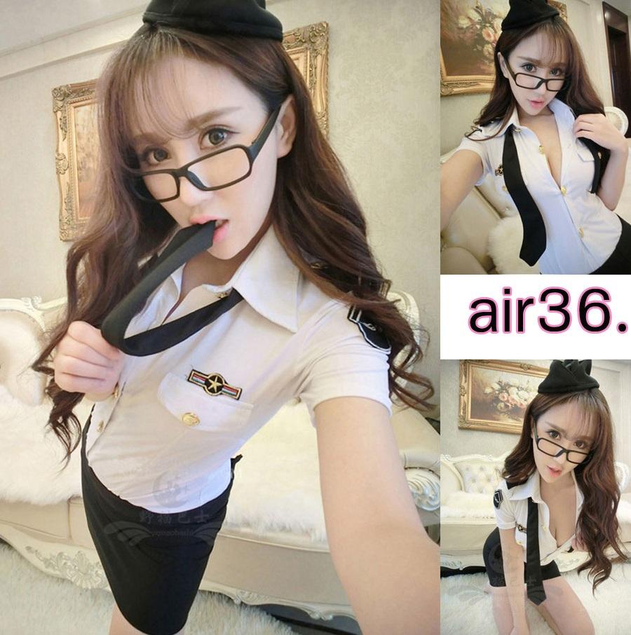 รหัส Air hostress36 ชุดคอสเพลย์แอร์โฮสเตสเซ็กซี่