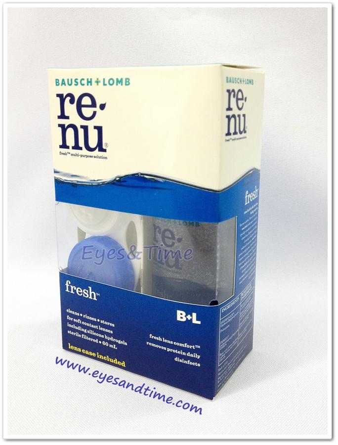 น้ำยาล้างคอนแทคเลนส์ Renu 60 ml. (ขวดเล็ก) *ไม่มีตลับแช่แถมนะคะ*