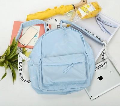 กระเป๋าเป้ UNION OBJET สีฟ้า