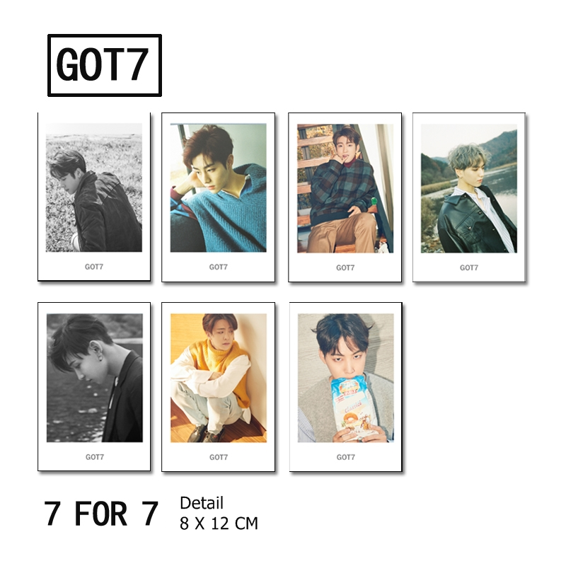 Polaroid Set GOT7 7 For 7 Edition (7pc)