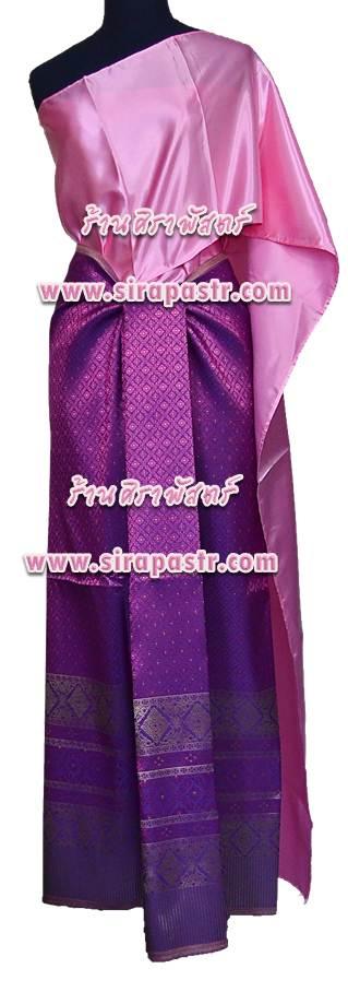 ชุดผ้าไทย TR-2 (สไบ+ผ้าฯ*แบบจับสด) *รายละเอียดในหน้าสินค้า