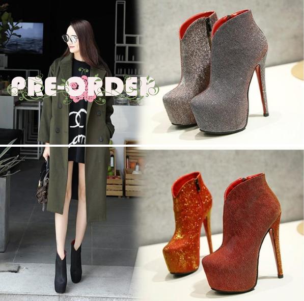 รองเท้าบูท ไซต์ 34-43 สีเทา/แดง/ดำ
