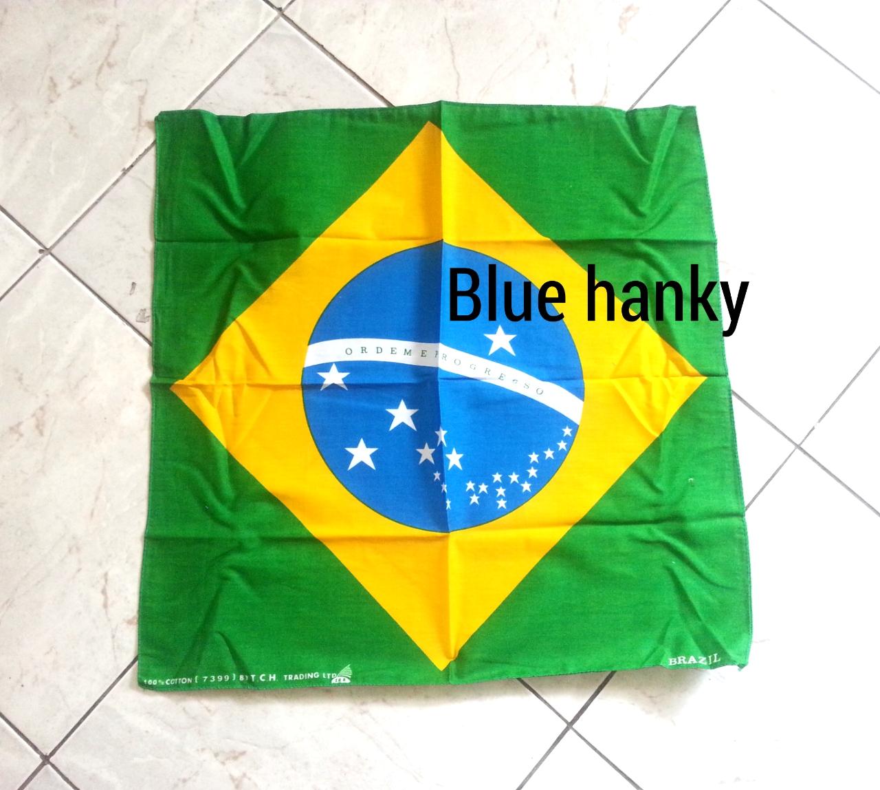 ผ้าพันคอลายธงชาติบราซิล
