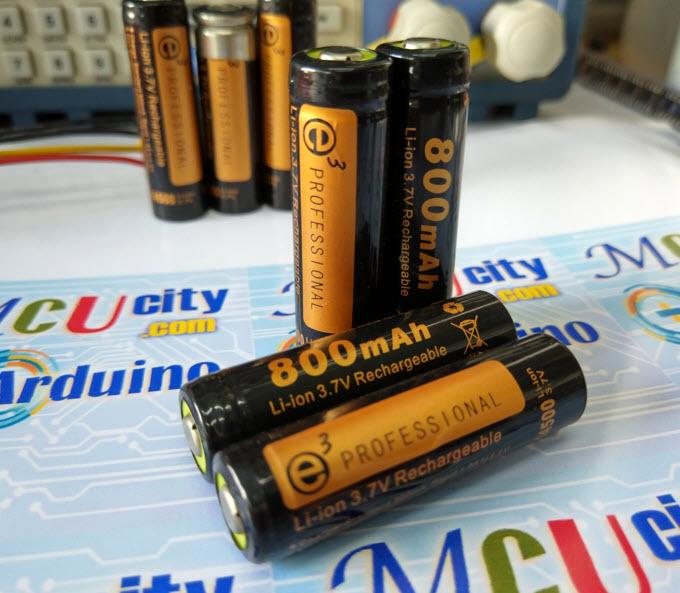 14500 (AA) lithium battery flashlight battery 3.7v 800 mAh (มีวงจรป้องกัน)