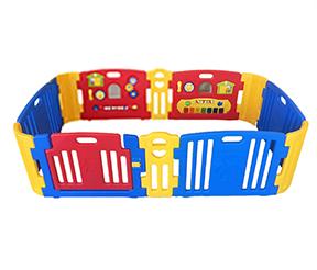 คอกกั้นเด็ก Haenim new สีแดงสดใส รุ่น Melody + playgame ไซส์ M