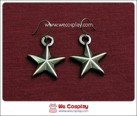 ต่างหูโกธิค รูปดาว นิเกิลรมดำ Gothic Earrings