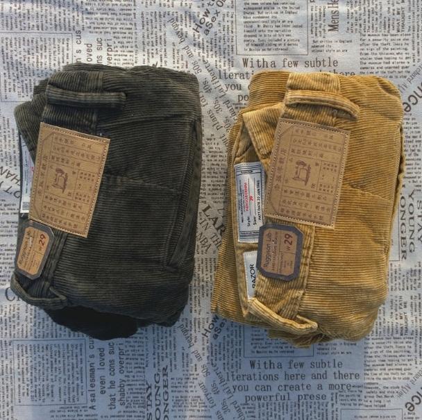 *Pre Order*กางเกงลูกฟูก INDIGO&CHINO Selvage Denim Japan size 29-36 /สีกากี