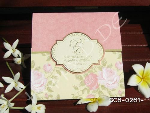 SC6-0261 การ์ดแต่งงานแนะนำ